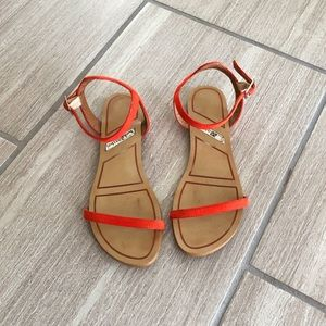 Matiko Orange Strappy Sandals